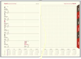 Kalendarze książkowe tygodniowe z notesem